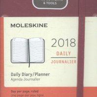 Moleskine 12 month – daily – pocket – berry rose – hard