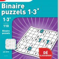 Binaire 1-3* puzzels – editie 110